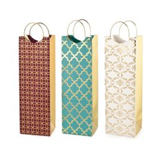 Assorted Luxe Pattern Wine Bags