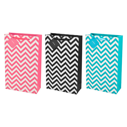 Assorted 2-Bottle Chevron Wine Bags