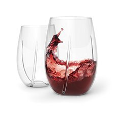 WHIRL Aerating Stemless Wine Glasses, Set of 2