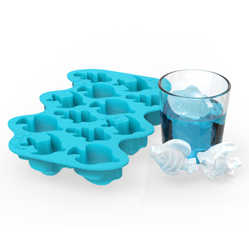 Parad-Ice Fish Silicone Ice Cube Tray Zoo