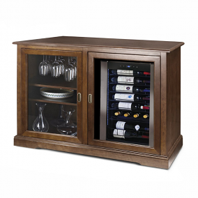 Siena Mezzo Wine Credenza with Two Wine Refrigerators