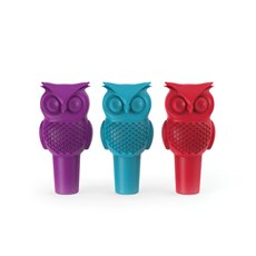 Hoot Owl Bottle Stopper in Assorted Colors