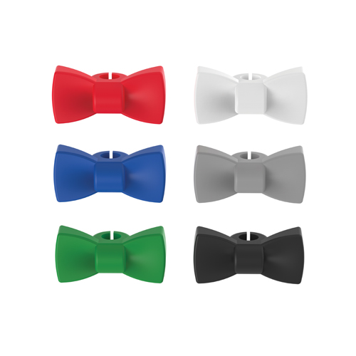 Bow Tie: Silicone Wine Charms (Set of 6)