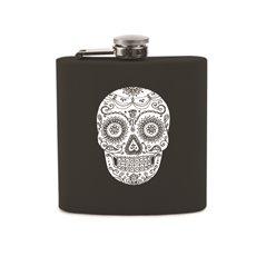 Dia De Los Muertos Soft Touch Flask