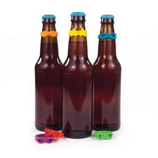 Beernoculars Bottleneck Drink Markers (Set Of 6)