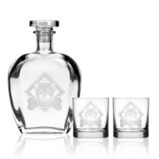 WOOF! Pug Decanter OTR set of 3 in Gift Box