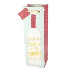 Marketplace: Filled with Thanks Wine Bag