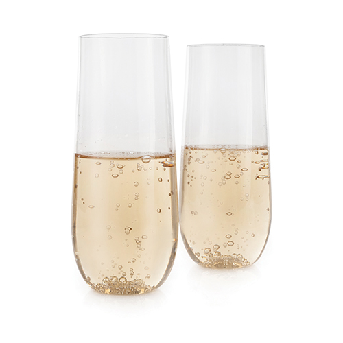 Flexi: Stemless Champagne Flute Set