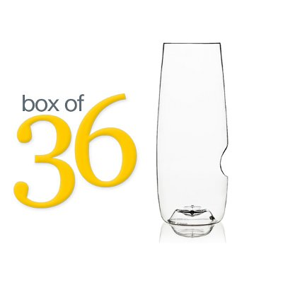 GoVino Stemless Champagne Flutes (box of 36)