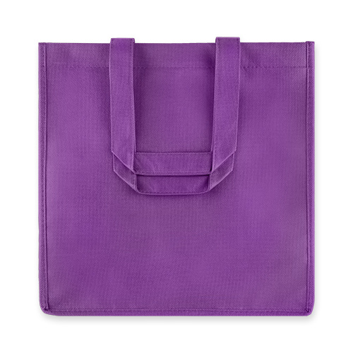 6 Bottle Purple Non Woven Tote