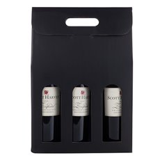 Marketplace: Black 3-Bottle Carrier