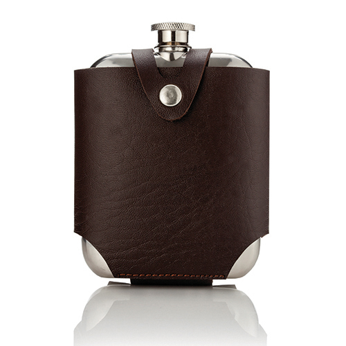 Admiral Stainless SteelFlask and Traveling Case by Viski