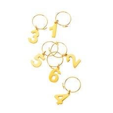 Belmont Gold Plated Wine Charms by Viski
