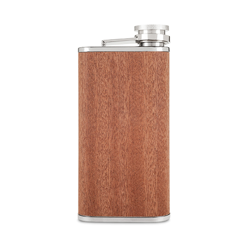 Wood Veneer and Stainless Steel Flask by Foster and Rye
