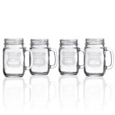 Happy Camper Assorted Camper Jar 16 oz Set of 4