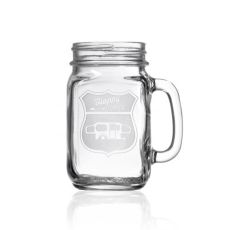 Happy Camper Pop-Up Camper Jar 16 oz Set of 4