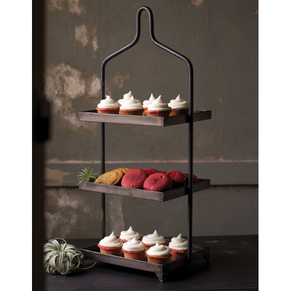 3-Tier Square Metal Display