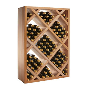 N'FINITY Stackable 4 Foot Wine Rack - Diamond Bin, Mahogany