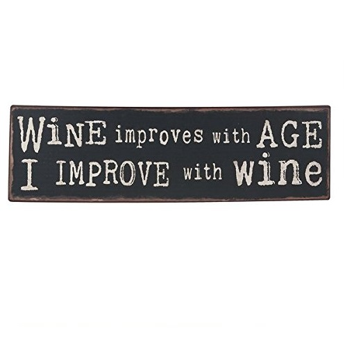 Wine Improves with Age Iron Plaque