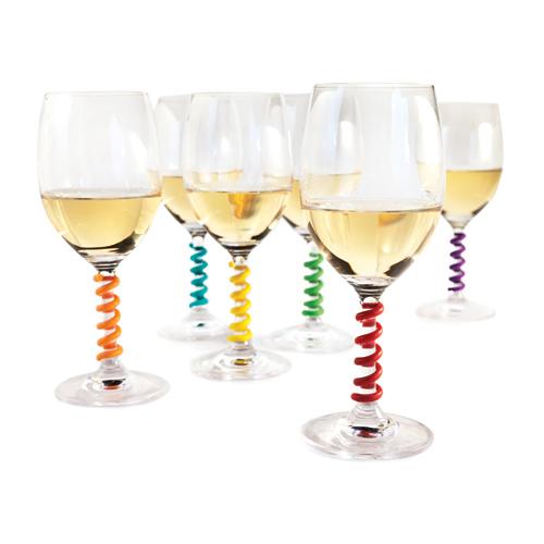 Stem Springs Wine Charms (Set Of 6) Zoo