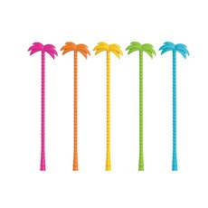 Palm Tree Stir Sticks (Set Of 5) Zoo