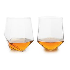 Seneca Faceted Crystal Tumblers (Set Of 2)