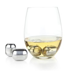 Glacier Rocks Stainless Steel Wine Globes by Viski