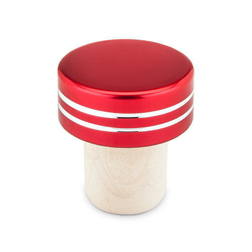 Red Metallic Bottle Stoppers