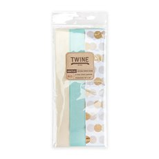 Marketplace: Gold Dot Teal and Cream Tissue Paper