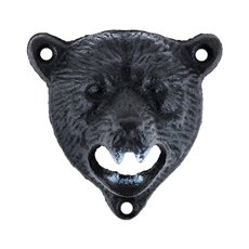 Cast Iron Wall Mounted Bear Bottle Opener by Foster and Rye