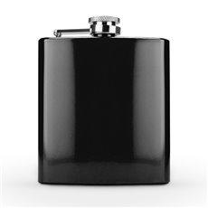 Spectrum Glossy Black 6 Ounce Flask