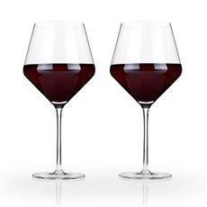 Raye Crystal Burgundy Glasses (Set Of 2)By Viski