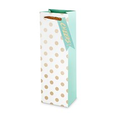 Assorted Large Gold Polka Dot Wine Bag