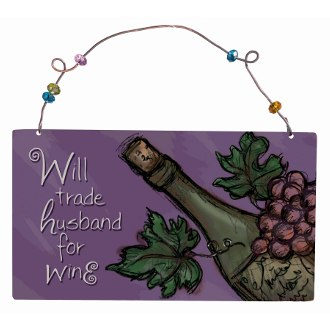 Will Trade Husband For Wine Ornament