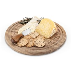 Rustic Farmhouse: Rounded Cheese Board and Knife Set