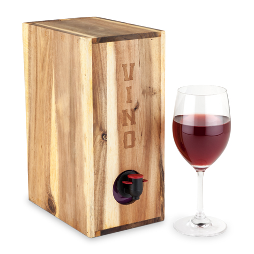 Country Home Acacia Wood Boxed Wine Cover