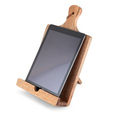 Rustic Farmhouse Acacia Wood Tablet Cooking Stand by Twine