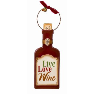 Live Love Wine Ornament