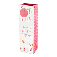 Happy Birthday Tassel Garland Wine Bag