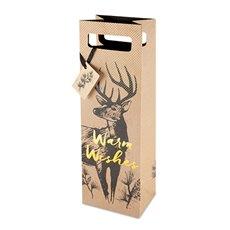 Warm Wishes Deer 750ml Bottle Bag By Cakewalk