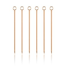 Summit Copper Cocktail Pick Set By Viski (Set of 6)