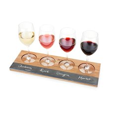 Rustic Farmhouse Acacia Wood Wine Flight Board by Twine