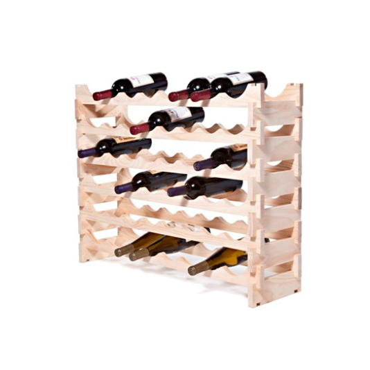 48 Bottle Stackable Wooden Wine Rack - Natural