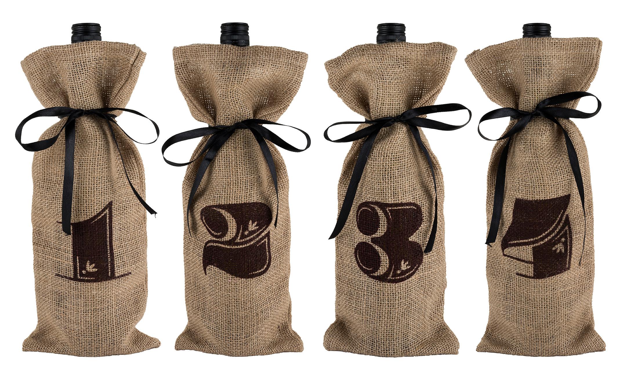 Jute Bag Wine Tasting Kit