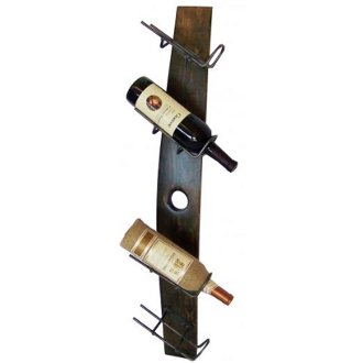 4 Bottle Tilt Wall Mounted Wine Stave Rack