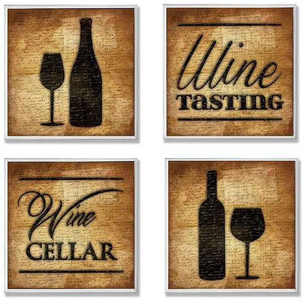 Wine Theme Wall Art (Set of 4)