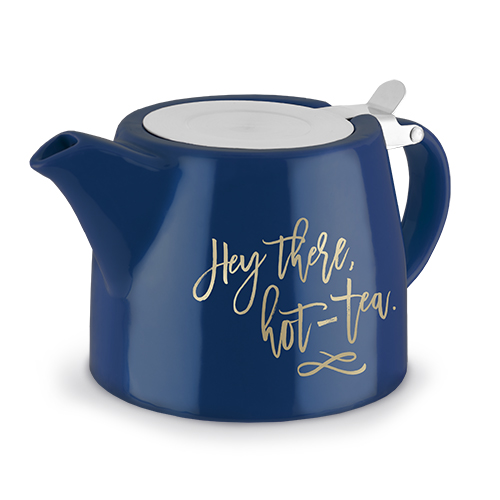 Harper Hey There, Hot-Tea Ceramic Teapot and Infuser by Pinky