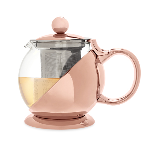 Shelby Rose Gold Wrapped Teapot and Infuser by Pinky Up