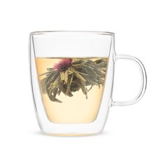 Avery Double Walled Glass Tea Mug by Pinky Up