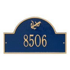 Personalized Anchor Arch Plaque, Blue / Gold